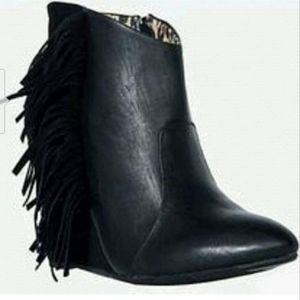 NEW TORRID TASSEL WEDGE ANKLE BOOTS SIZE 12